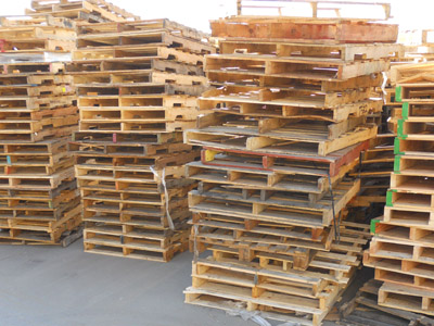 Wood Pallets 48x40 four way.