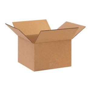 One-Time Use Blank 10x10x6.5 Box holds up to 40 lbs.
