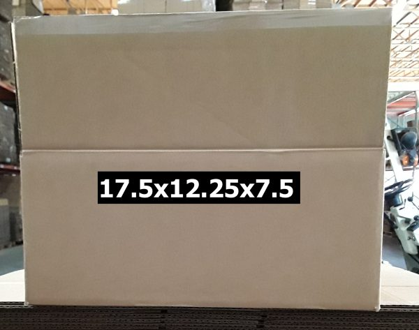 Single-use 17.5x12.25x7.5 Shipping Box. Boxes Near Me just received a shipment of Single-use shipping boxes.