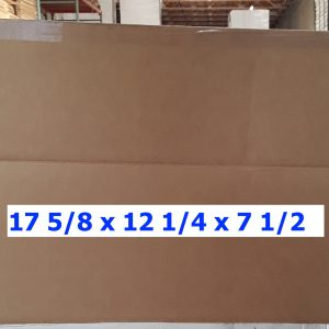 Single-use Unprinted 17.6x12.25x7.5 Box