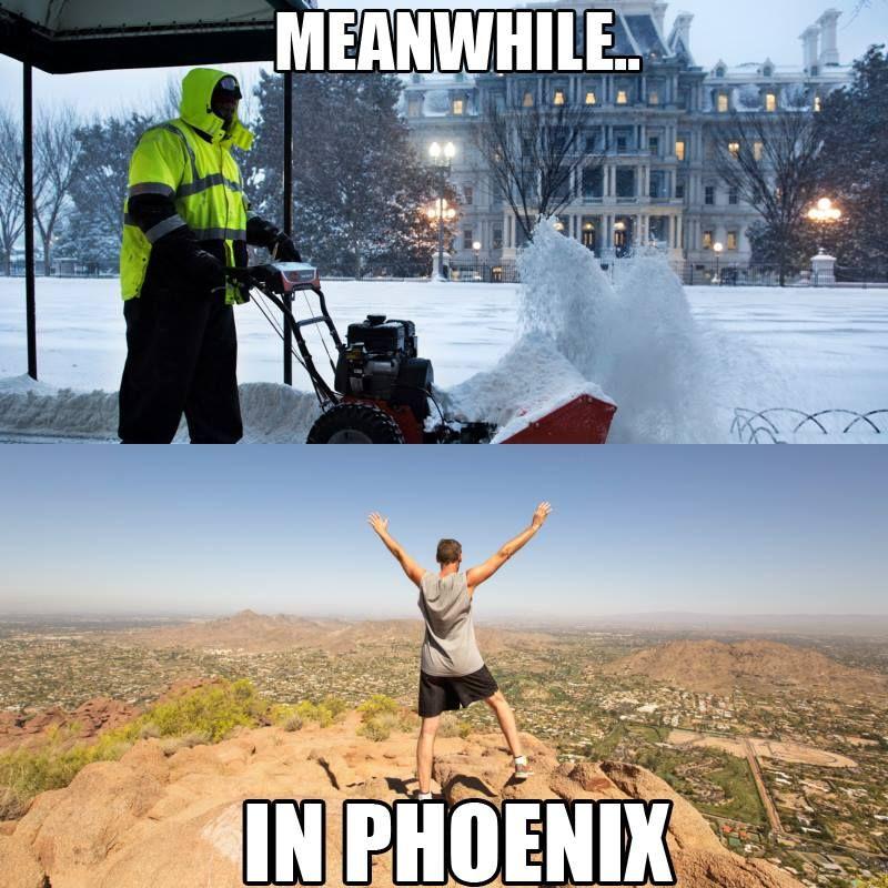 Winter in Phoenix is.....