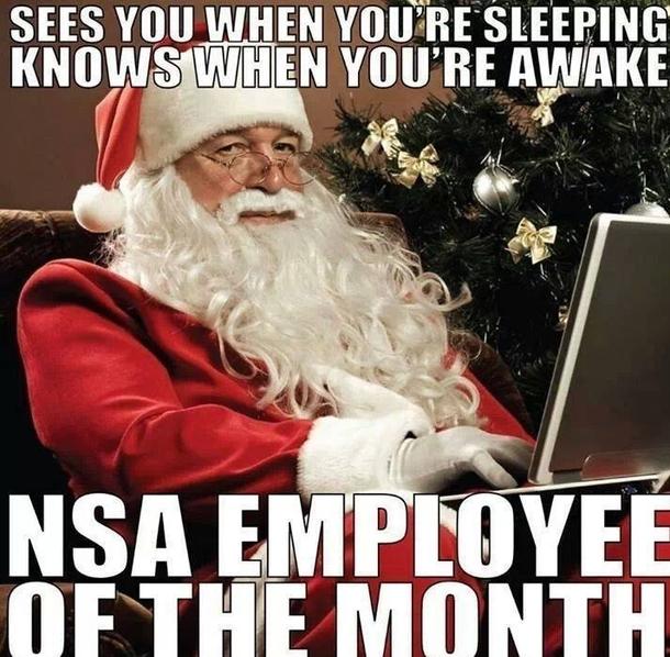 Santa means At NSA
